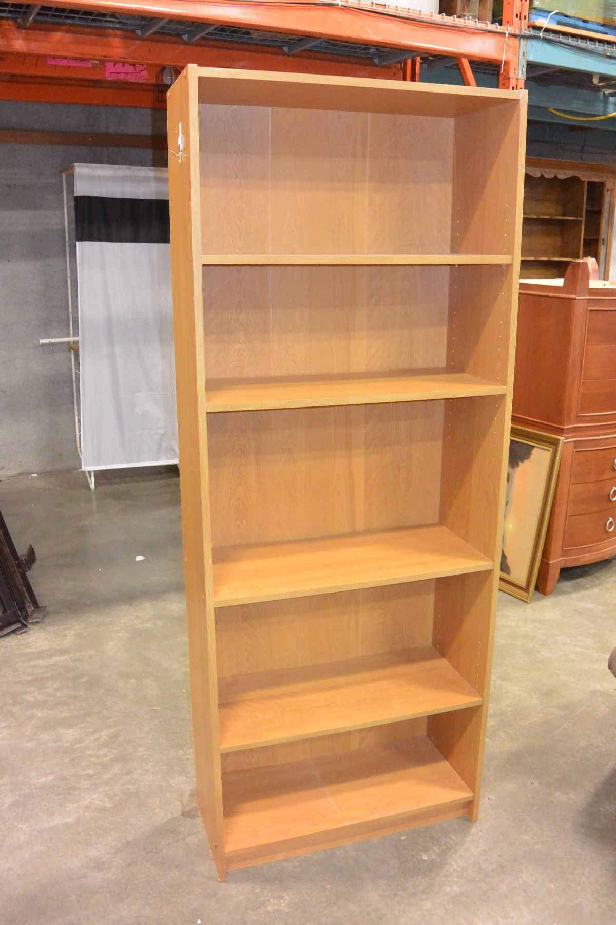 Image 1 6 FOOT MAPLE BOOKSHELF
