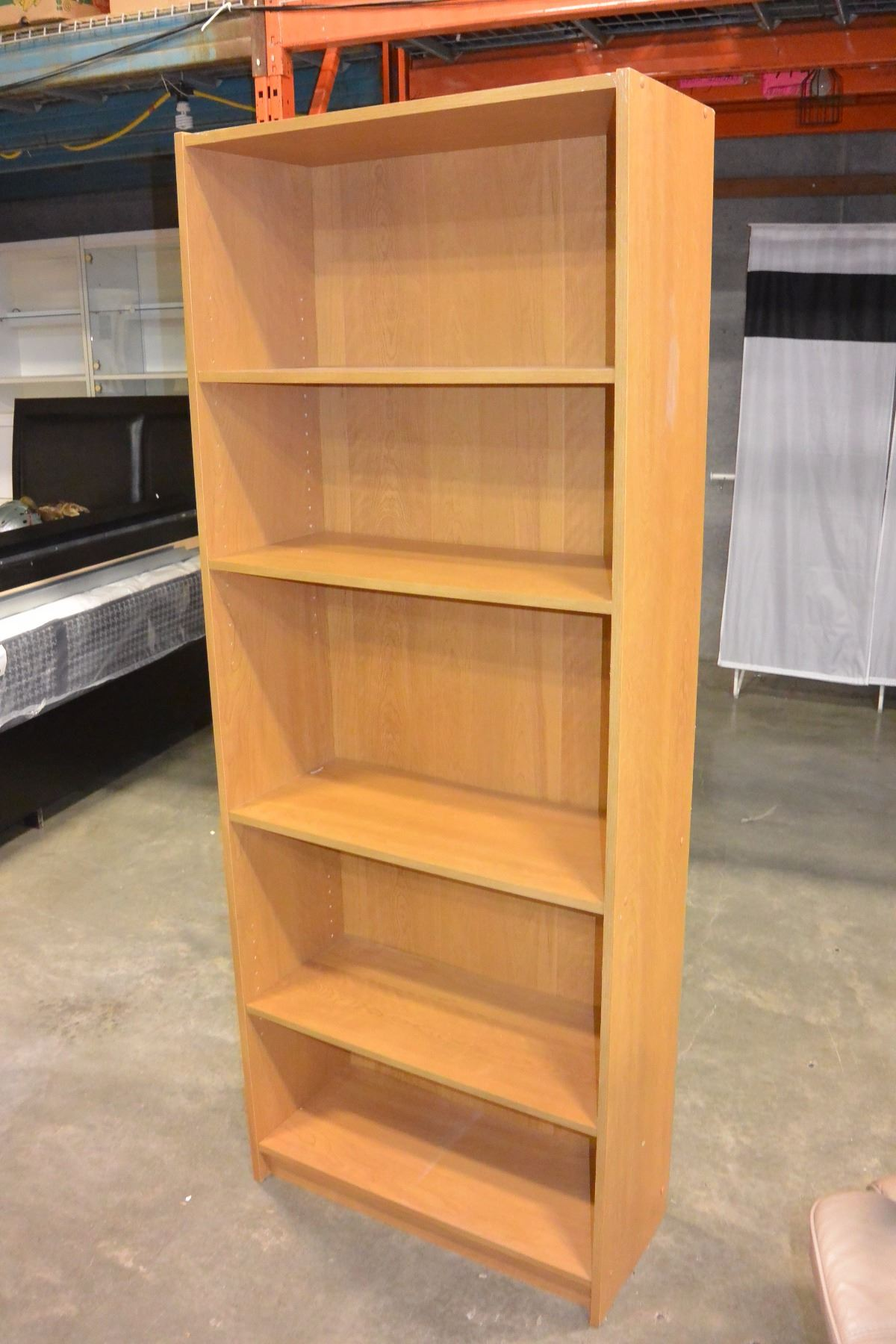 Image 2 6 FOOT MAPLE BOOKSHELF