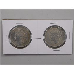 2x USA Silver Dollars 1921 and 1925.