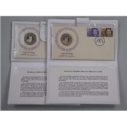 2x Royal Wedding - Nov. 14/13, Medallic First Day Covers .925 Sterling Silver.
