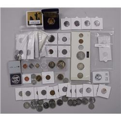 Bag Lot Mixed Canadian Coins w/Silver Years.