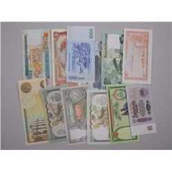 19x Mixed Estated World Notes.