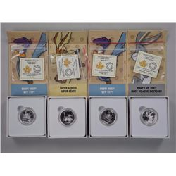 4x RCM - Warner Brother - 'Looney Tunes' $10.00 - .9999 Fine Silver Coins.