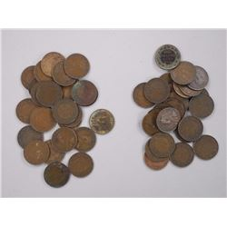 50x 'King George' Large 1 Cent Coin.