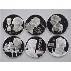 6x .925 Sterling Silver Medals UNC 123-Grams.