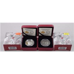 2x RCM .9999 Fine silver $20.00 and $25.00 Royal Visit Coins L.E./C.O.A - Ultra High Relief on $25.0