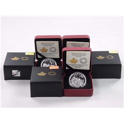 3x RCM Tradition of Hunting $5.00 - .9999 Fine Silver Coins.