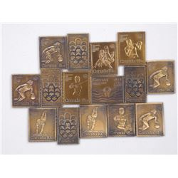 15x Bronze - Olympic Stamps.