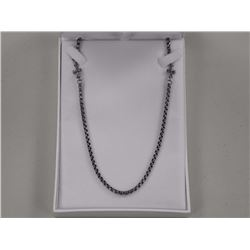 """24"""" Stainless Steel Chain w/Cross Accents."""