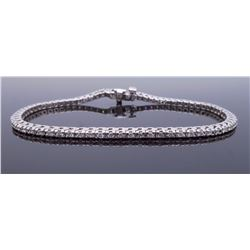 14KT White Gold 1.40ctw Diamond Bracelet