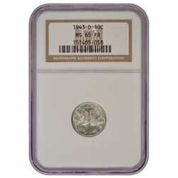 1943-D Mercury Dime NGC MS65FB