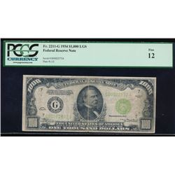 1934 $1000 Chicago Federal Reserve Note PCGS 12
