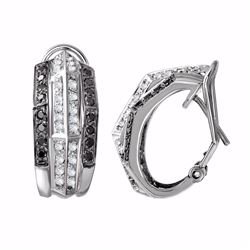14KT White Gold  0.79ctw Diamond Earrings