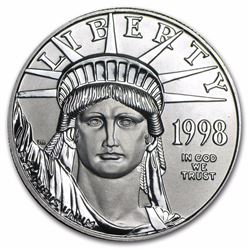 1998 $100 Platinum 1oz American Eagle Coin