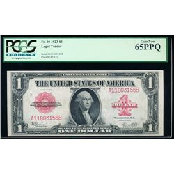 1923 $1 Legal Tender Note PCGS 65PPQ