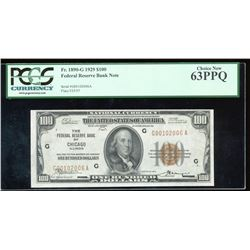 1929 $100 Chicago Federal Reserve Bank Note PCGS 63PPQ