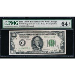 1928A $100 Chicago Federal Reserve Note PMG 64EPQ