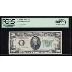 1934A $20 Richmond Federal Reserve Note PCGS 66PPQ