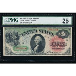1869 $1 Legal Tender Note PMG VF25