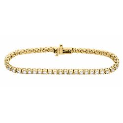 14KT Yellow Gold 5.00ctw Diamond Tennis Bracelet