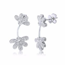 14KT White Gold 0.35ctw Diamond Earrings
