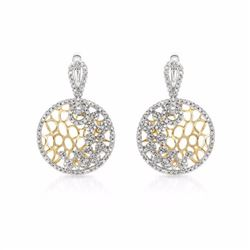 14KT Two Tone Yellow Gold 0.95ctw Diamond Earrings