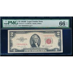 1953A $2 Legal Tender Note PMG 66EPQ