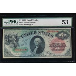 1869 $1 Legal Tender Note PMG 53