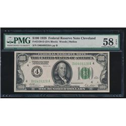 1928 $100 Cleveland Federal Reserve Note PMG 58EPQ