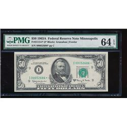1963A $50 Minneapolis Federal Reserve Note PMG 64EPQ