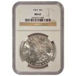 1903 $1 Morgan Silver Dollar Coin NGC MS65