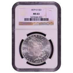 1879-O $1 Morgan Silver Dollar Coin NGC MS63
