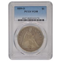 1859-O Seated Liberty Dollar Coin PCGS VG08