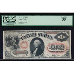 1878 $1 Legal Tender Note PCGS 35