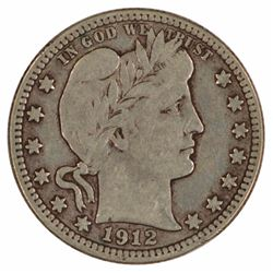 1912-S Barber Quarter Coin