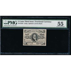 5 Cent Third Issue Fractional Currency Note PMG 55