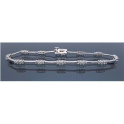 14KT White Gold 1.08ctw Diamond Bracelet