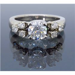 Platinum 0.75ct GIA Cert Diamond Ring