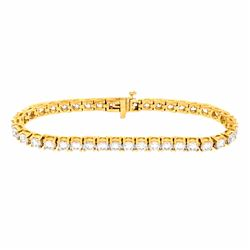 14KT Yellow Gold 10.00ctw Diamond Tennis Bracelet