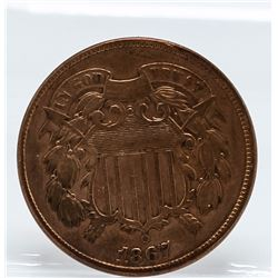 1867 2 Cent Coin