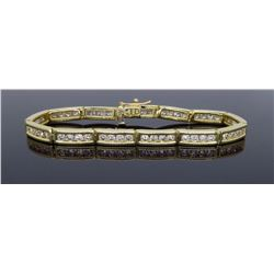 14KT Yellow Gold 3.64ctw Diamond Bracelet