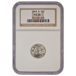 1943-S Mercury Dime NGC MS66