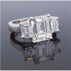 Platinum GIA Cert 2.63ctw Diamond Ring