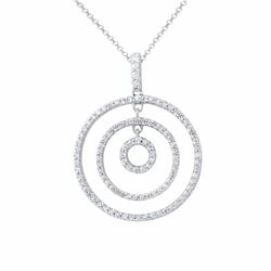 14KT White Gold 0.59ctw Pendant with Chain