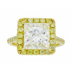 18KT Yellow Gold 3.63ctw Diamond Ring