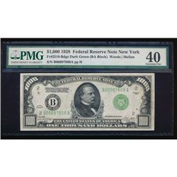 1928 $1000 New York Federal Reserve Note PMG 40