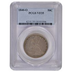 1840-O Seated Liberty Half Dollar Coin PCGS VF35