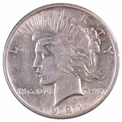 1921 $1 Peace Silver Dollar Coin