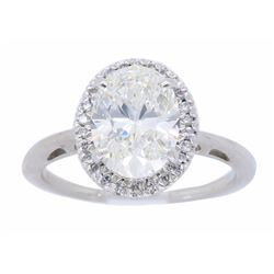 18KT White Gold 1.79ctw GIA Cert Diamond Ring