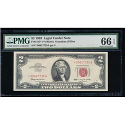 1963 $2 Legal Tender Note PMG 66EPQ